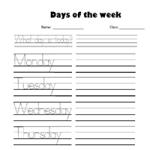 Дни недели - Прописи