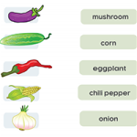 Еда - Соедини слова с картинками