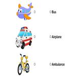 Транспорт - Соедини названия с картинками