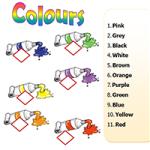 Цвета - Соедини цвета с названиями