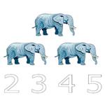 Числа - Раскрась правильное число